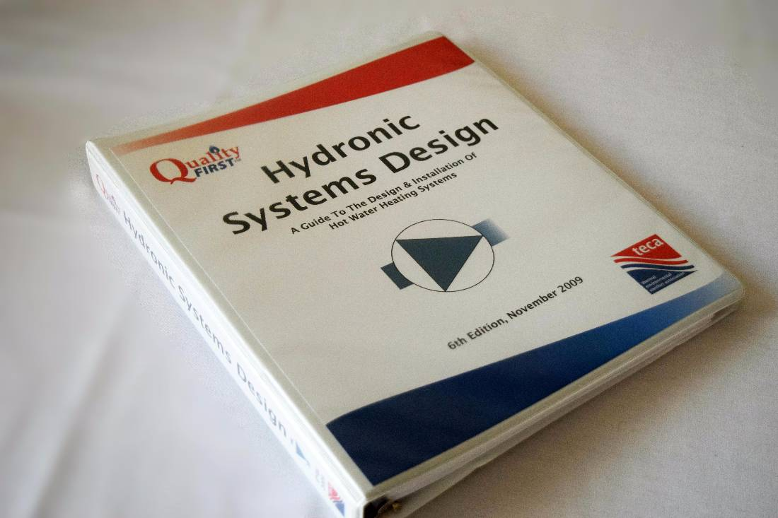 Hydronic Systems Design Manual Quality First Manuals Teca Heating Wiring Diagram